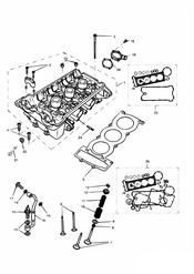 triumph motorcycle  DAYTONA 595 / 955i triumph parts section Cylinder Head and Valves