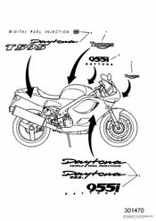 triumph motorcycle  DAYTONA 595 / 955i triumph parts section Decals
