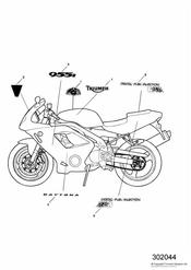 triumph motorcycle  DAYTONA 955i 132513 > triumph parts section Bodywork  Decals   186150