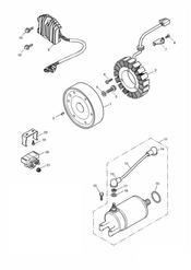 triumph motorcycle  SPEED FOUR triumph parts section AlternatorStarter   171120