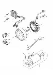 triumph motorcycle  SPEED FOUR triumph parts section AlternatorStarter 171121