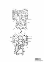 triumph motorcycle  SPEED TRIPLE 141872 > 210444 triumph parts section Crankcase Fixings