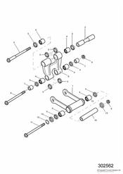 triumph motorcycle  SPEED TRIPLE 141872 > 210444 triumph parts section Rear Suspension Linkage