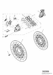 triumph motorcycle  SPEED TRIPLE 141872 > 210444 triumph parts section Front Brake Caliper and Disc