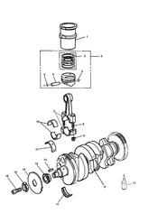 triumph motorcycle  SPEED TRIPLE (CARBS) triumph parts section CrankshaftConn RodPistons and Liners
