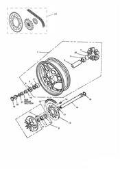 triumph motorcycle  SPEED TRIPLE (CARBS) triumph parts section Rear WheelFinal Drive 750cc Model