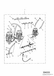 triumph motorcycle  TRIDENT triumph parts section Carburettors US California models only   ENG NO 55615