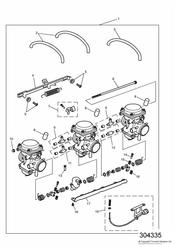 triumph motorcycle  TRIDENT triumph parts section Carburettors US California models only ENG NO 55616