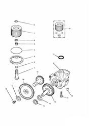 triumph motorcycle  TROPHY 29156 > triumph parts section Lubrication System