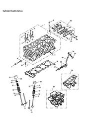 triumph motorcycle  TT600 triumph parts section Cylinder Head and Valves