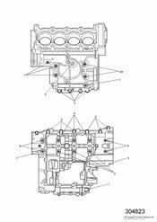 triumph motorcycle  TT600 triumph parts section Crankcase Fixings