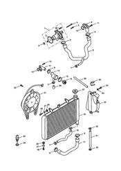 triumph motorcycle  TT600 triumph parts section Cooling System