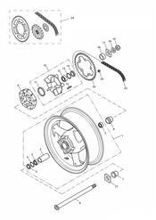 triumph motorcycle  TT600 triumph parts section Rear WheelFinal Drive