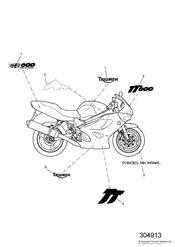triumph motorcycle  TT600 triumph parts section Bodywork  Decals   111989