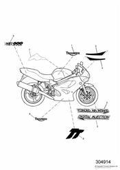triumph motorcycle  TT600 triumph parts section Bodywork  Decals 111990    115673