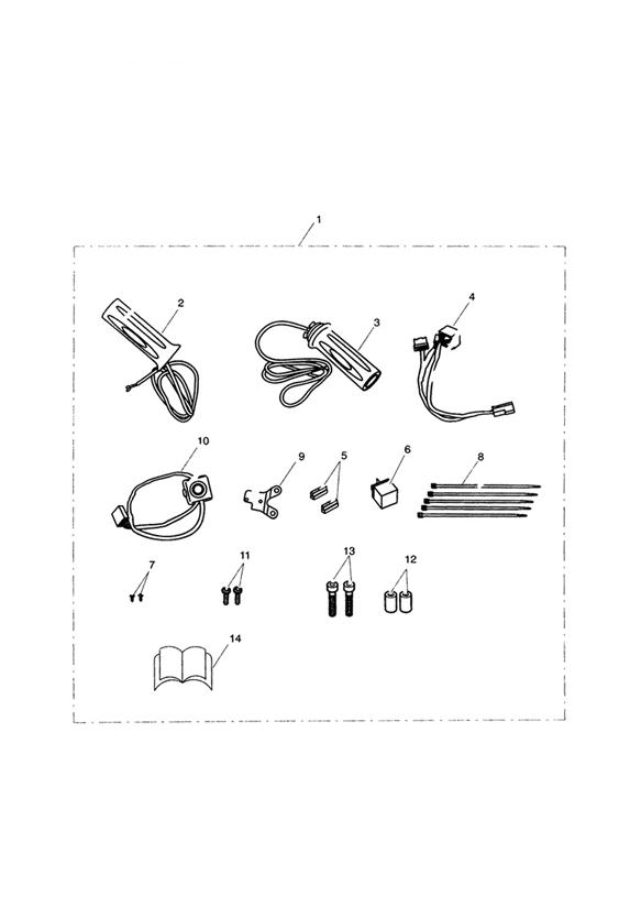 Triumph Thunderbird Storm Motorcycle Parts For Heated Grip Kit