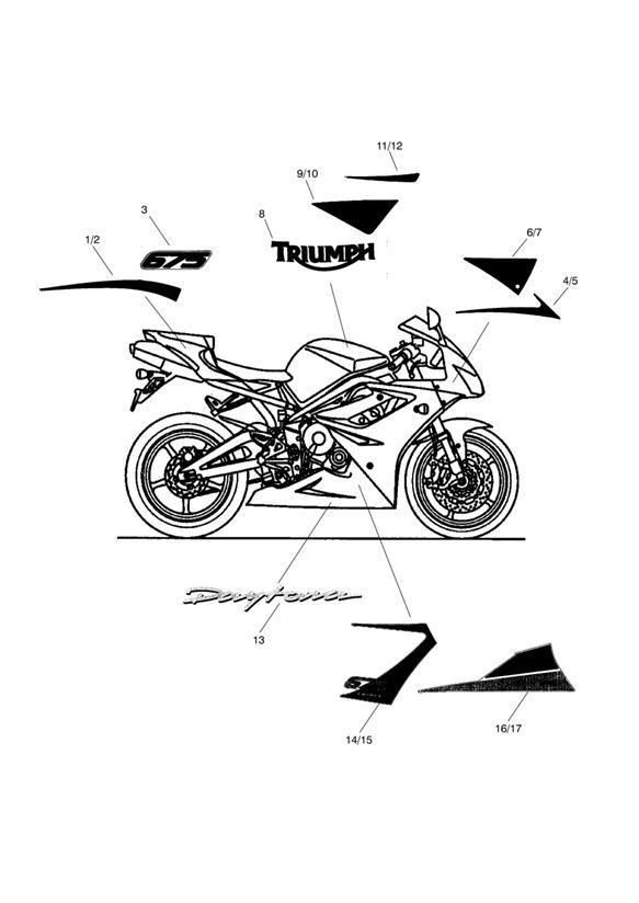 triumph motorcycle triumph parts section