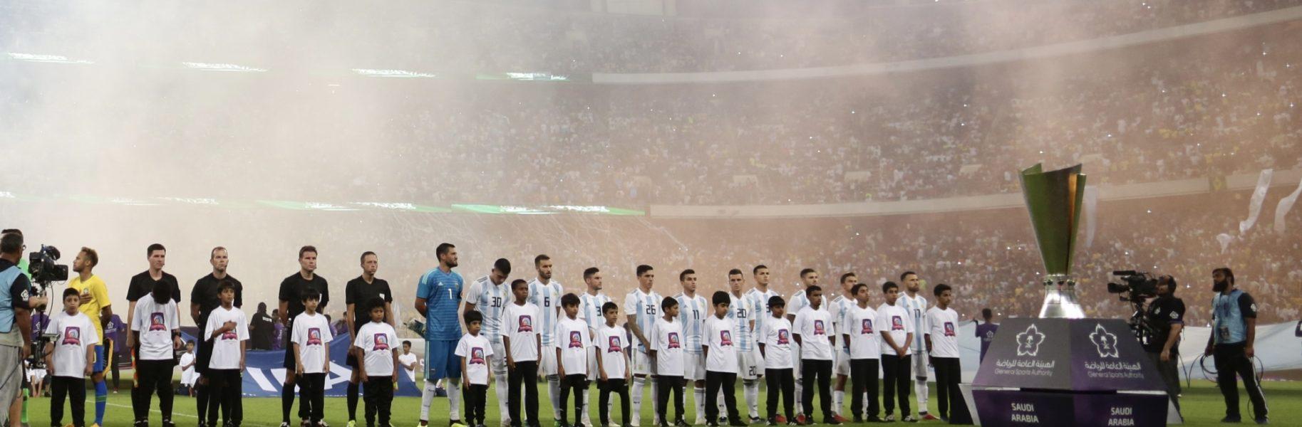 Atmosphere brazil argentina lined up