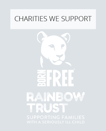 Plum partnership with Born Free and Rainbow Trust