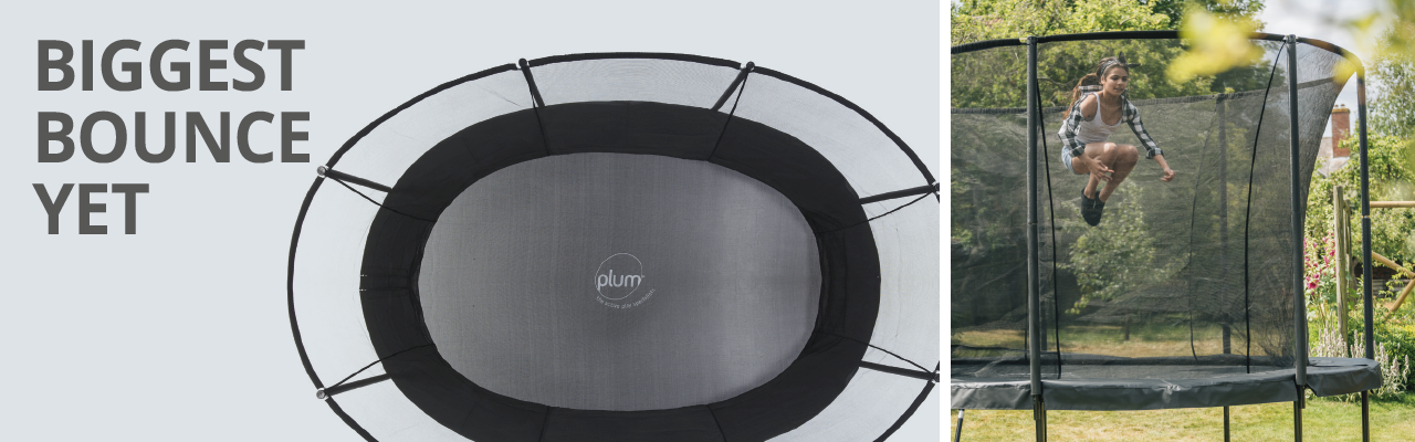 Plum Product New Oval Trampoline - our biggest bounce yet