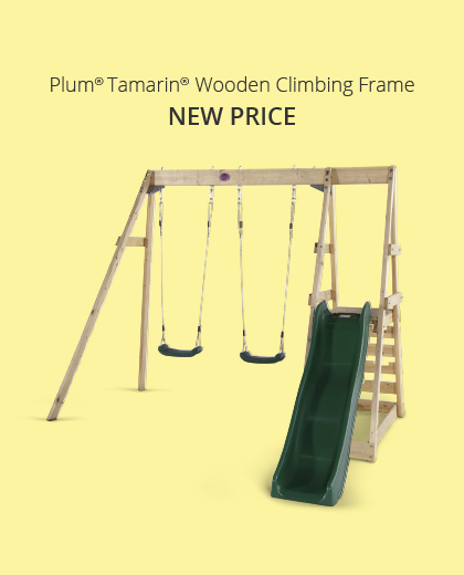 Plum Play Tamarin Wooden Swing and slide Set -