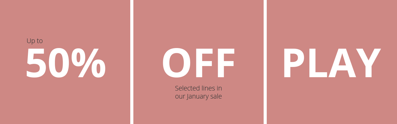 Up to 50% off Trampoline, Swings, Scooters and indoor toys in our January Plum Sale