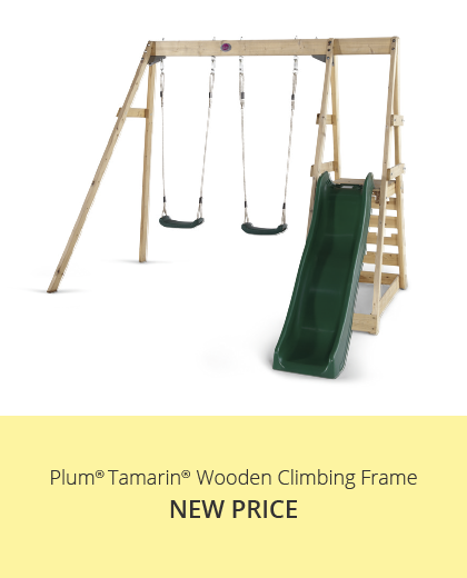 Plum Play Tamarin Wooden Swing and slide Set