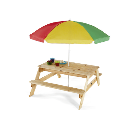 PICNIC TABLE WITH PARASOLE