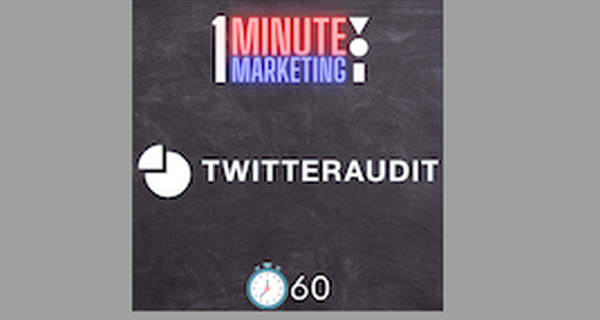 Introducing 1 Minute Marketing with NAVIC, first up how to do a quick Twitter audit on your influencer's profile