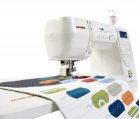 Janome MODEL M200 QDC, sewing machine, with table, computerised, domestic