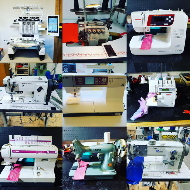 our week in , sewing machines