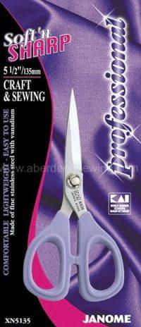 Janome - XN5135 - 5.5 inch Soft'n Sharp Professional - Craft & Sewing Scissors