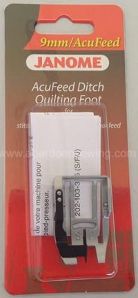 Janome - 202103006 - AcuFeed Ditch Quilting Foot - Category D (with AcuFeed)
