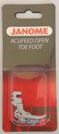 Janome - 846410003 - AcuFeed Open Toe Foot - MC7700QCP & 6600P ONLY