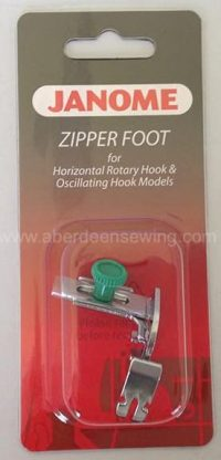 Janome - 200342003 - Adjustable Zipper FootPiping Foot - Category A /B
