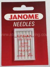 Janome - 990200000 - Ballpoint Needle - UK Size Assorted 11 & 14 - Metric Size 75/90