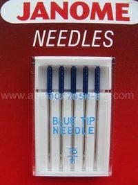 Janome - 990311000 - Blue Tip Needle UK Size 11 - Metric Size 75
