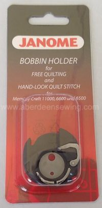 Janome - 200445007 - Special Bobbin Holder for Free Motion Quilting
