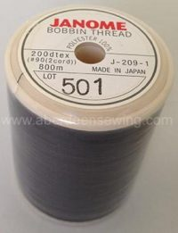 Janome - J-209-1 - Bobbin-Thread-Black-800m