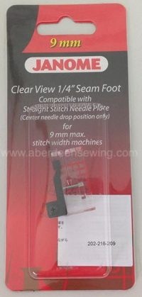 "Janome Clear View ¼"" Seam foot – Category D - 202216003"