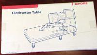 Janome White Extension/Clothsetter Table - MC11000 - 860401005