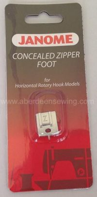 Janome Concealed Zipper Foot - Category B/C - 200333001