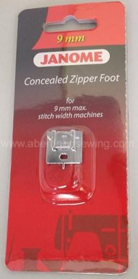 Janome Concealed Zipper Foot - Category D - 202144009
