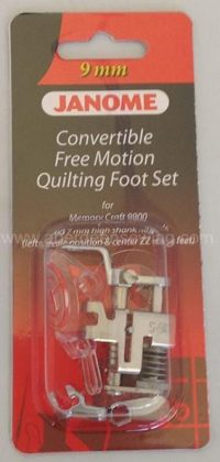 Janome Convertible Free Motion Quilt Foot Set - Category D - 202146001