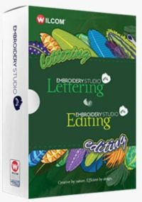 Wilcom Embroidery e4 Lettering Software Box front