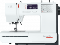 A straight on view of the Bernina B38 sewing machine