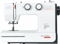 Straight on view on the Bernina Bernette B33 Mechanical Sewing Machine