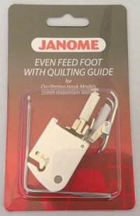 Janome Even Feed Foot - With Quilters Guide (Standard Closed Toe) - Category A - 200310002