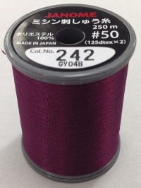 Janome Burgundy Thread J-207242 Spool
