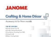 Janome JHD1 Crafting Kit, box cover showing items inside
